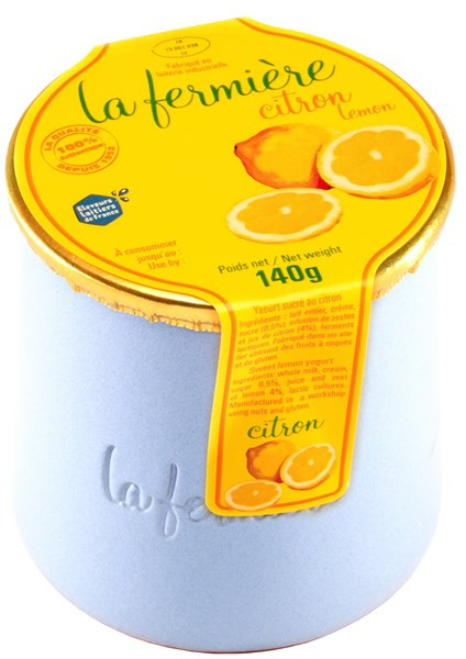 Yaourt La Fermiere Etuve Citron Pot Gre 140g Dessert Fromagede