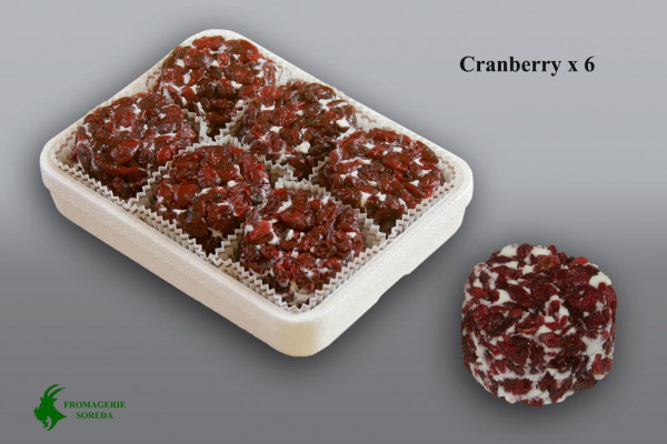 Kaeseladen online shop CROTTIN CRANBERRY SOREDA 80 G X 6